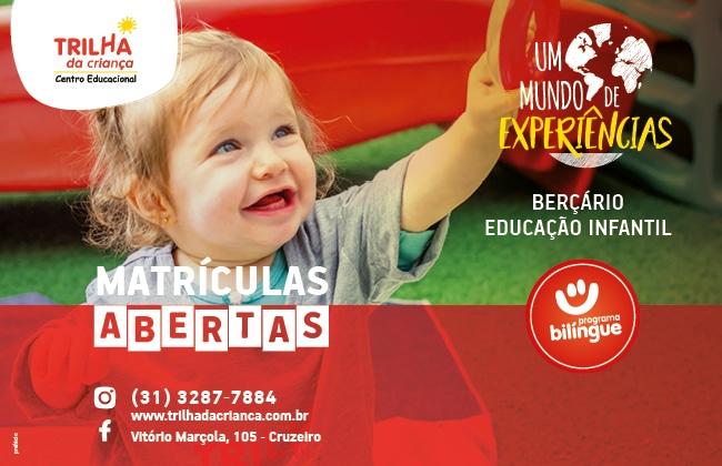 """A nossa Campanha de Matrícula """"Um mundo de experiências"""" destaca as vivências das crianças, mostrando a importância de cada uma e sua contribuição para o desenvolvimento integral."""